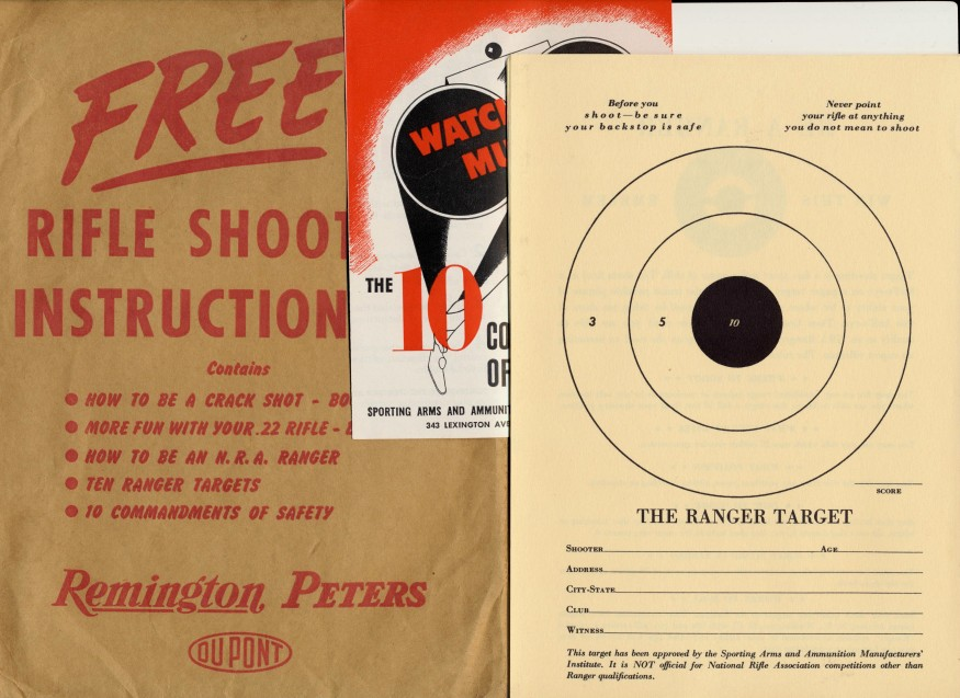 15 Piece Remington Rifle Shooting Instruction Kit From 1945