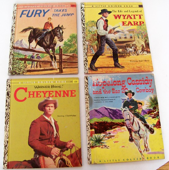 4 Western Little Golden Books
