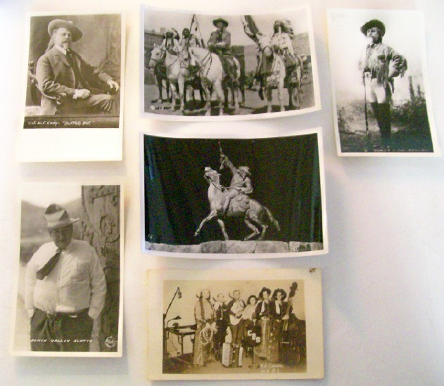 6 Photos - Buffalo Bill, Death Valley Scottie, Kit Carson Jr