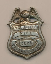 Salamanca New York Fire Department Badge
