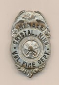 Crystal Minnesota Fire Department Badge
