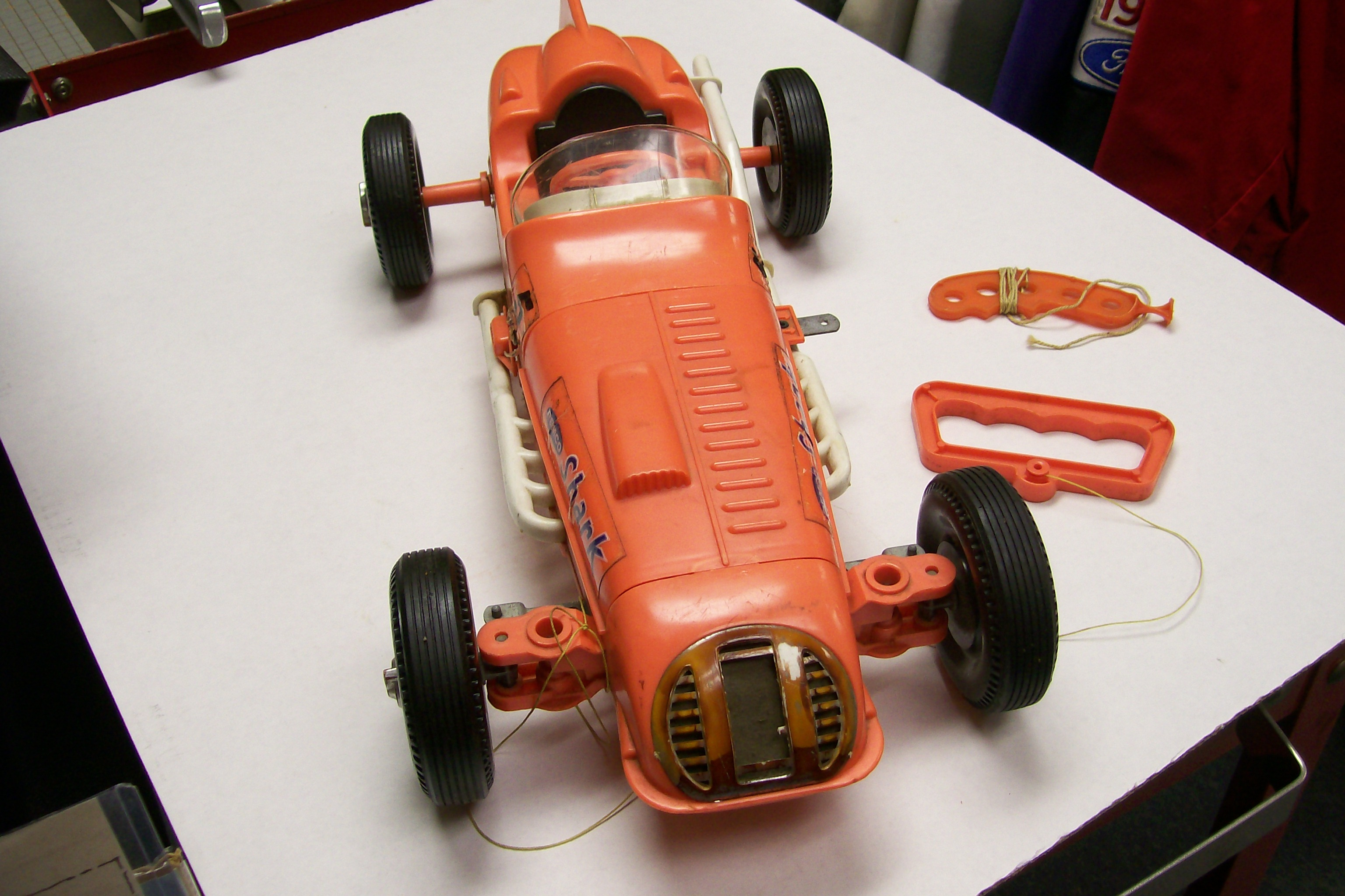 Remco Shark Battery Operated Race Car with controls 1961