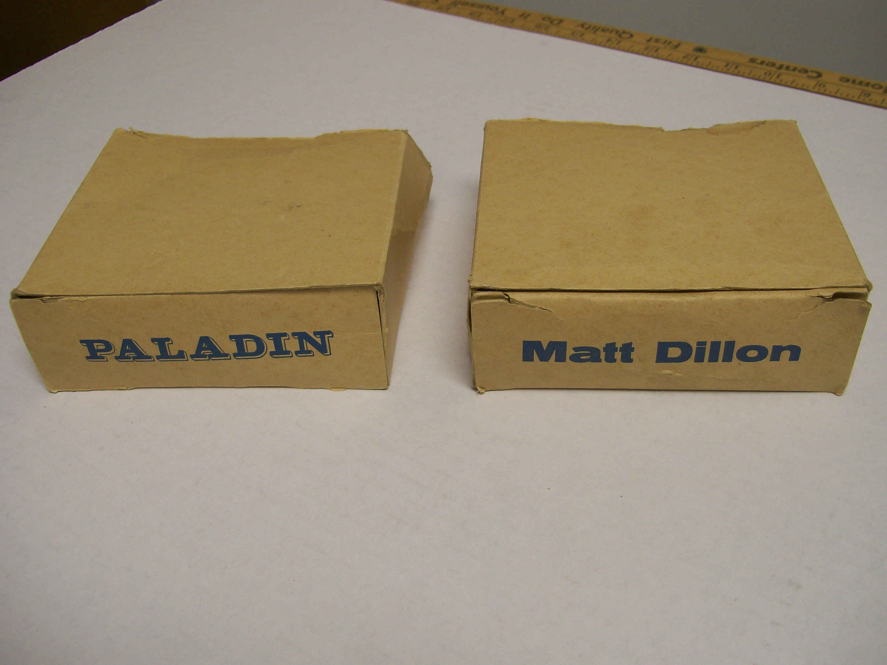 "Hartland Boxes for Matt Dillon & Paladin 4"" High Figures"