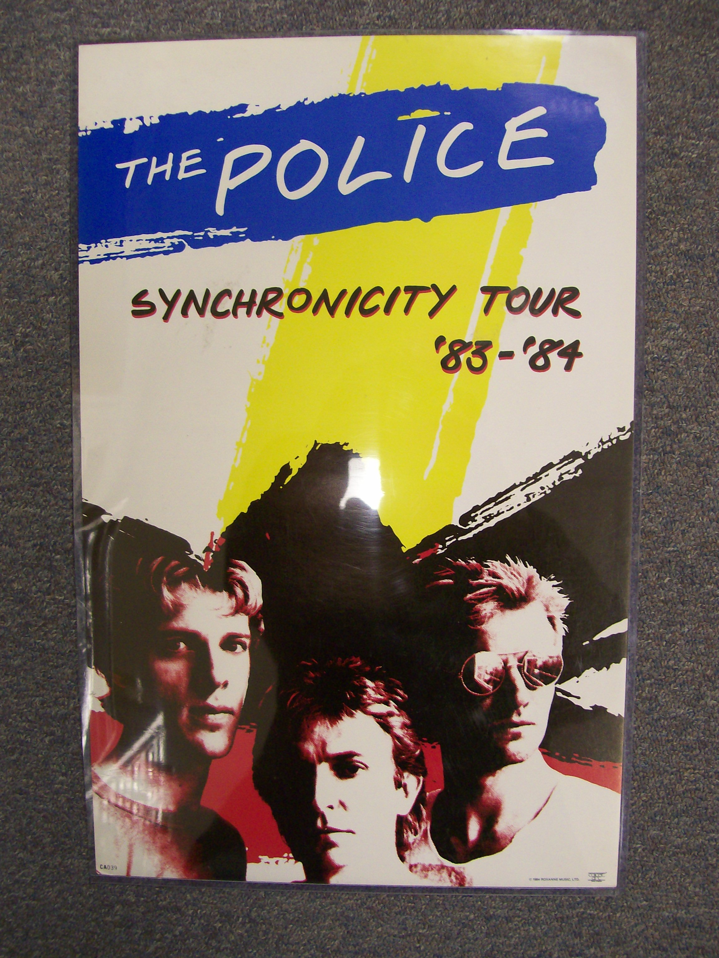 The Police Synchronicity Tour 83-84 1984 Roxanne Music CA039