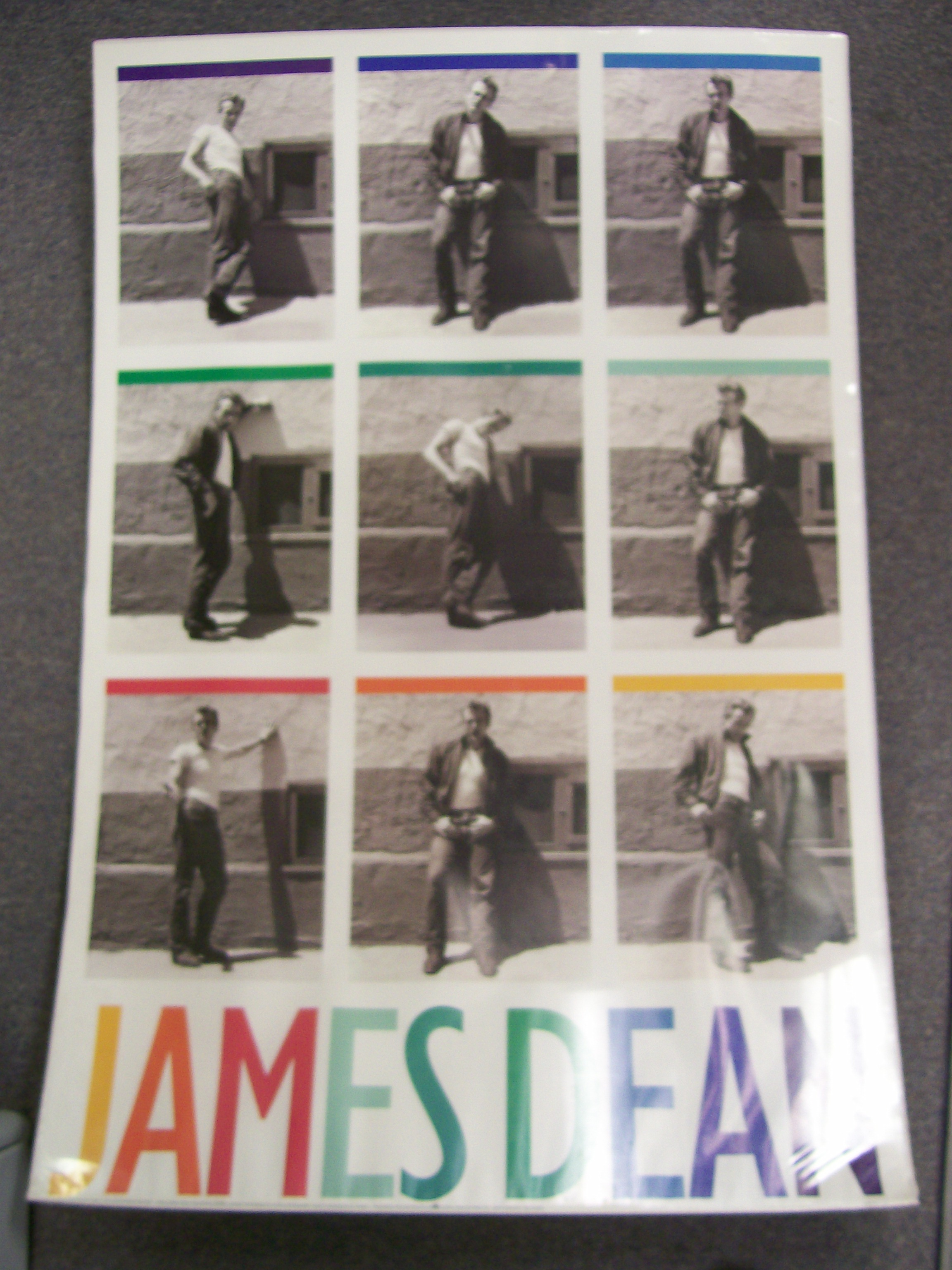 "James Dean Large 24"" X 36"" Poster 9 Different Poses 1992 JDF"
