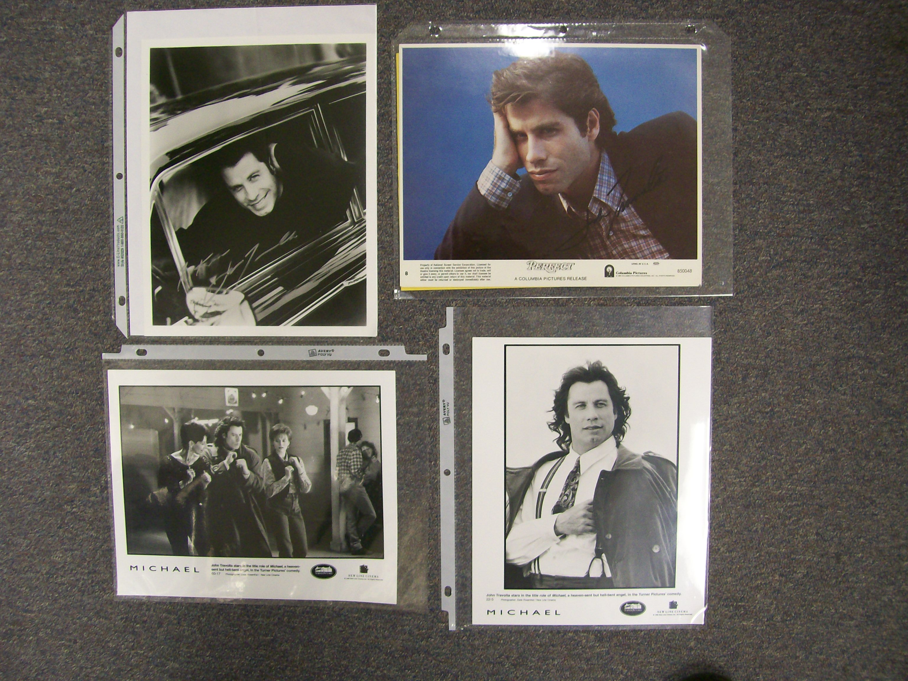 Small collection John Travolta memorabilia