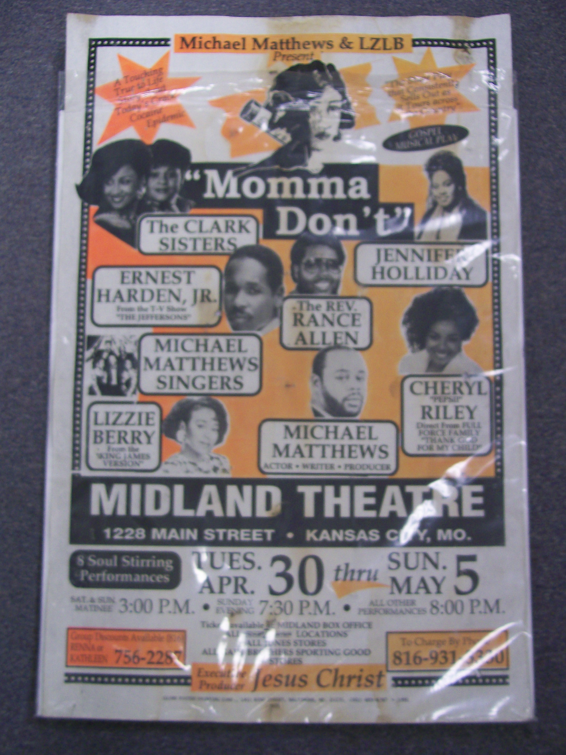 """Momma Don't"" Poster Soul Stirring Midland Theatre K.C."