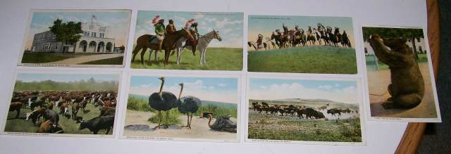 Vintage 101 Ranch Western Cowboy Indian 7 Postcard Lot