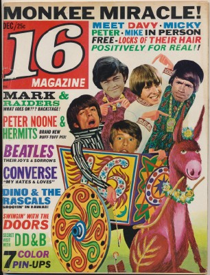 December 1967 16 Magazine - Monkees Special Features