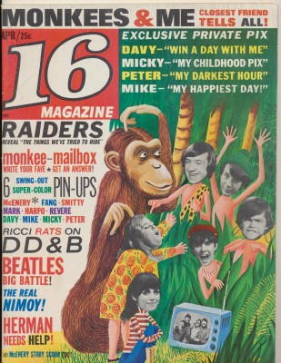 April 1967 16 Magazine - Monkees Pix & Feature Stories