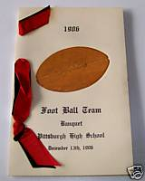 1906 Pittsburgh High School Football Banquet Program
