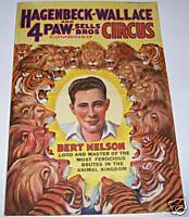 1935 Hagenbeck-Wallace Paw Sells Bros Circus Route Schedule