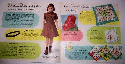 Vintage 1954 Brownie Scout Girl Scout Equipment Catalog
