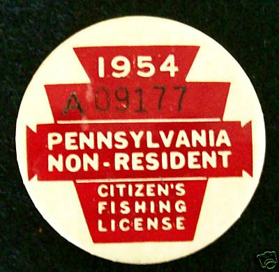 1938 pennsylvania resident fishing license papersebay for Pa fishing license online