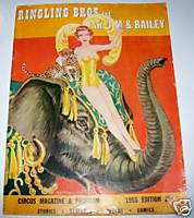 1955 Ringling Bros and Barnum & Bailey Circus Program/Magazine
