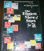 1958 Biggest Show Rock & Roll Stars Concert Program