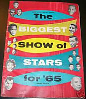 1965 Biggest Show Of Rock & Roll Stars Concert Program
