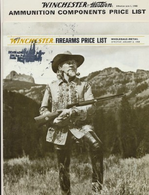 1968 Winchester Firearms & Ammunition Components Price Lists