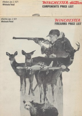 1971 Winchester Firearms & Components Price Lists