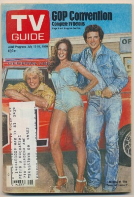 July 12-18 1980 TV Guide - Dukes Of Hazzard Cover Feature