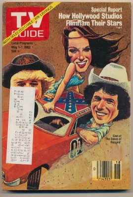 May 1-7 1982 TV Guide - Dukes Of Hazzard 1969 Dodge Charger