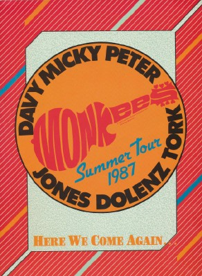 1987 Monkees Summer Tour Book Program - Here We Come Again