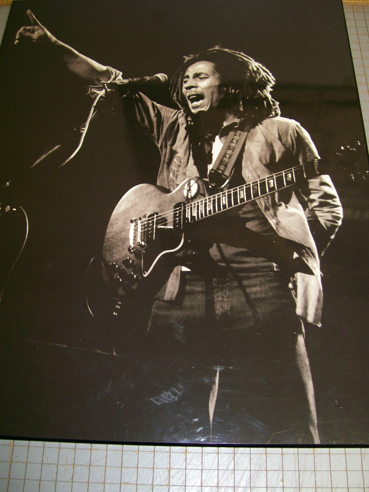 "BOB MARLEY 16"" X 20"" POSTER OF HIM PERFORMING"
