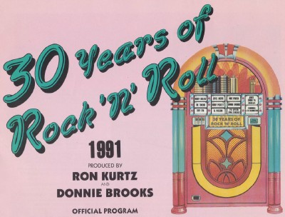 1991 30 Years Of Rock & Roll Concert Program