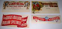 Lot Of 4 Different 1930s Illustrated Circus Letterheads