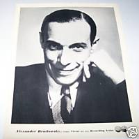 Alexander Brailowsky Pianist 1930s Original RCA Promo Photo