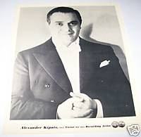 Alexander Kipnis Bass 1930s Original RCA Promo Photo