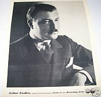 Arthur Fiedler Conductor 1930s Original RCA Promo Photo