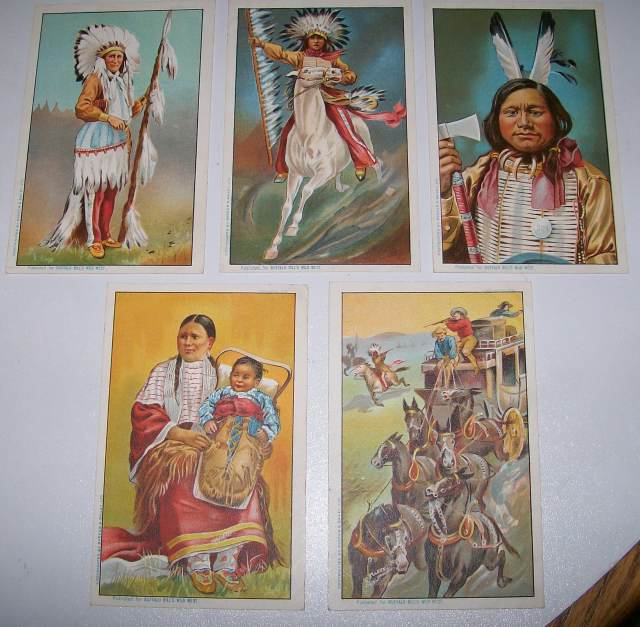 Buffalo Bill Wild West Show Barnum & Bailey Circus Indian PC Lot