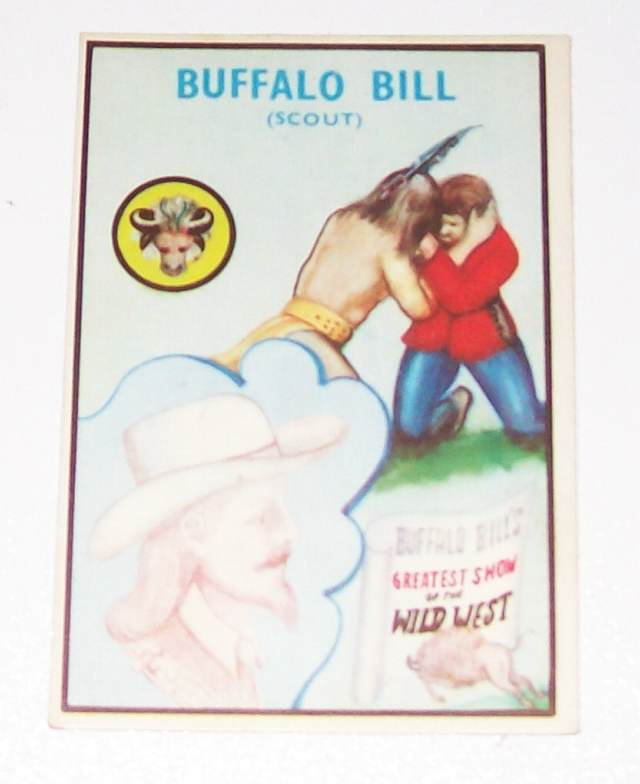 Buffalo Bill Colinville Gum Trading Card With Biography