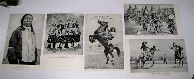 1909 Buffalo Bill Wild West Show Souvenir Postcards