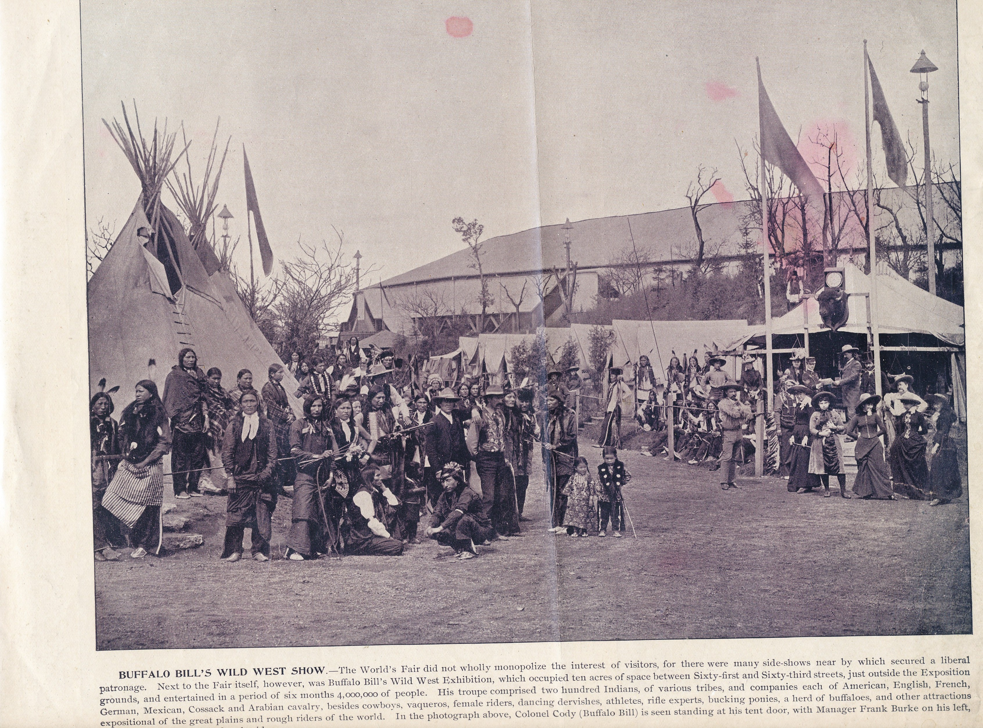 Buffalo Bills Wild West Photo 1893 Worlds Fair