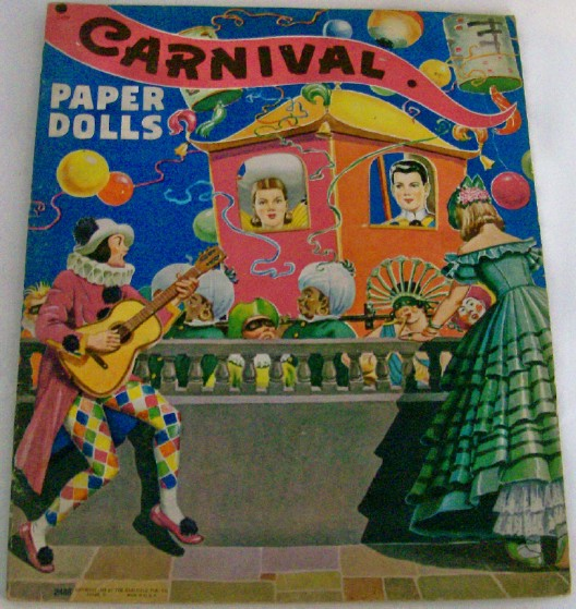 1944 Carnival Paper Dolls By Saalfield - Uncut