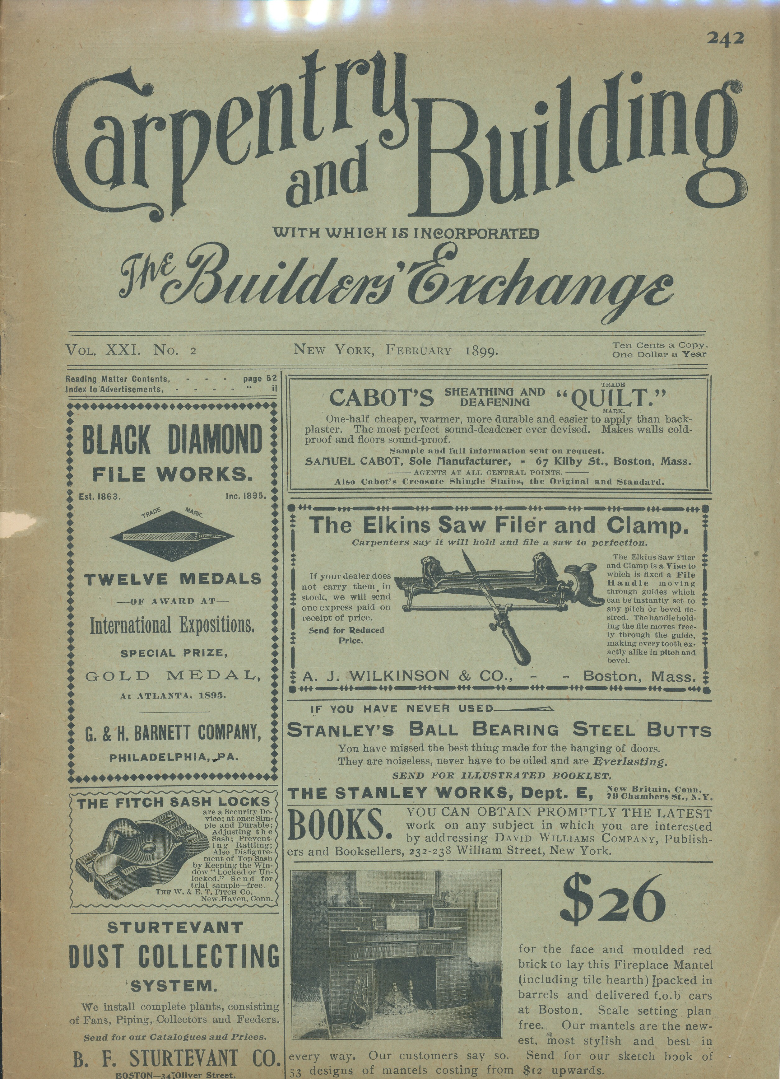 Carpentry and Building Vol 21 #2 February 1899