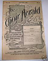1906 Choir Herald 7 Church Anthems Sheet Music Song Book