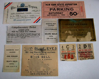 Mixed Lot Of Vintage Tickets - NY Expo West's World's Wonder +++