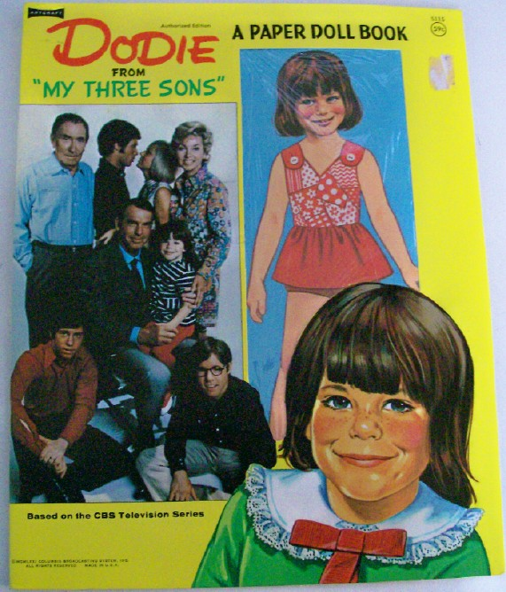 1971 Dodie From My Three Sons Paper Doll Book - Uncut