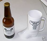 Hopalong Cassidy Festival Souvenir Boot & Sarsaparilla Bottle