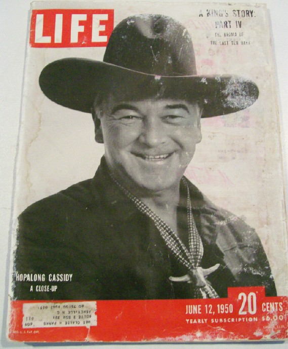 June 12 1950 Life Magazine - Hopalong Cassidy Cover Feature