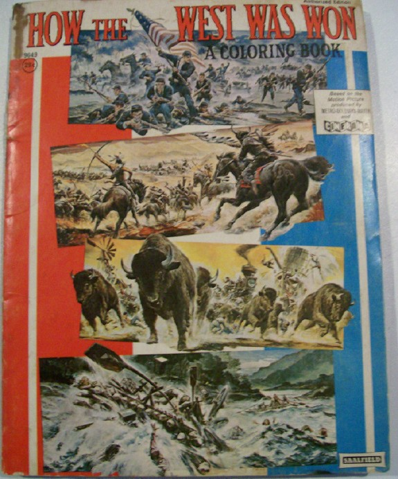 1963 How The West Was Won MGM Cinerama Movie Coloring Book