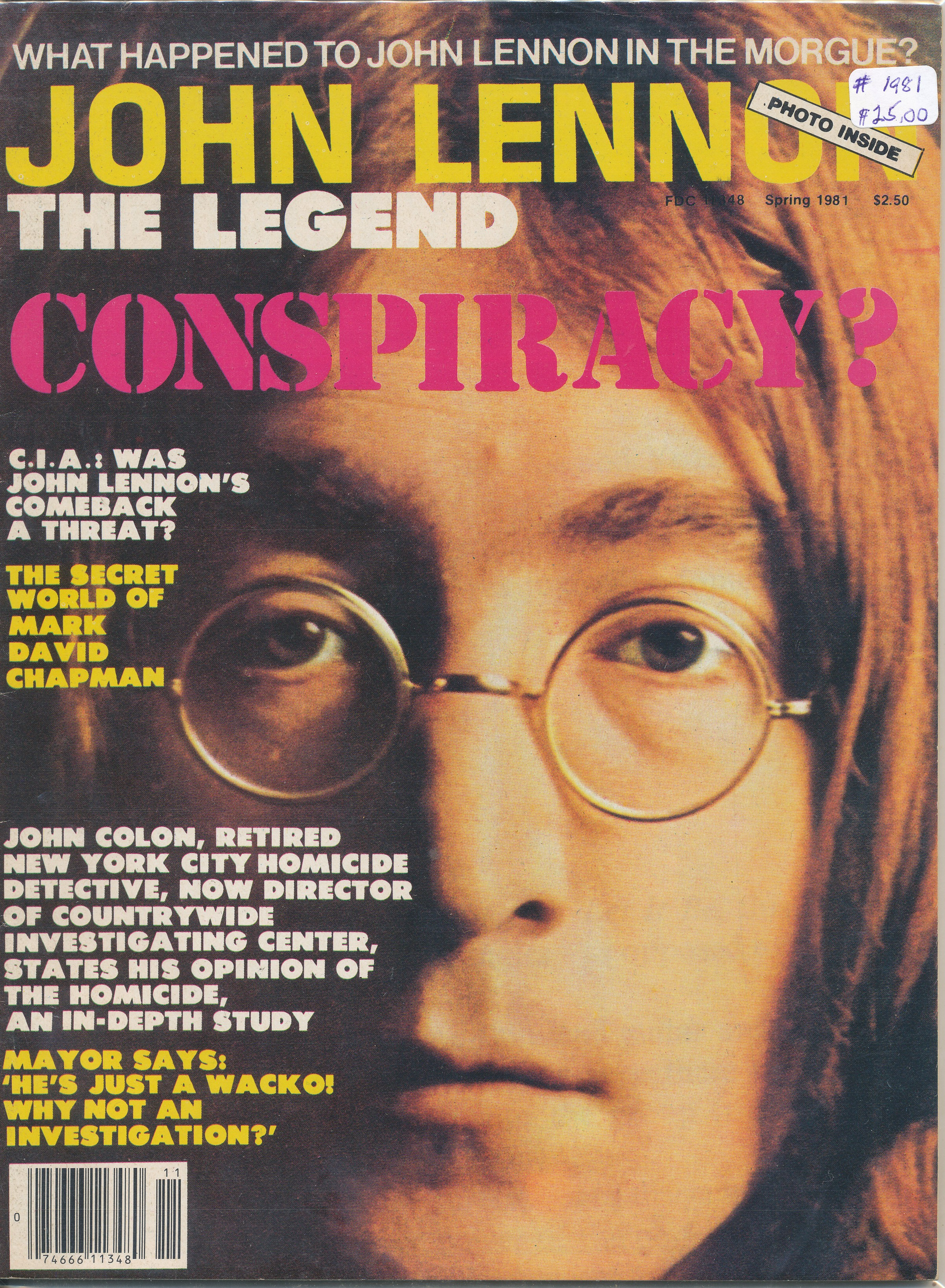 1981 Conspiracy? John Lennon The Legend
