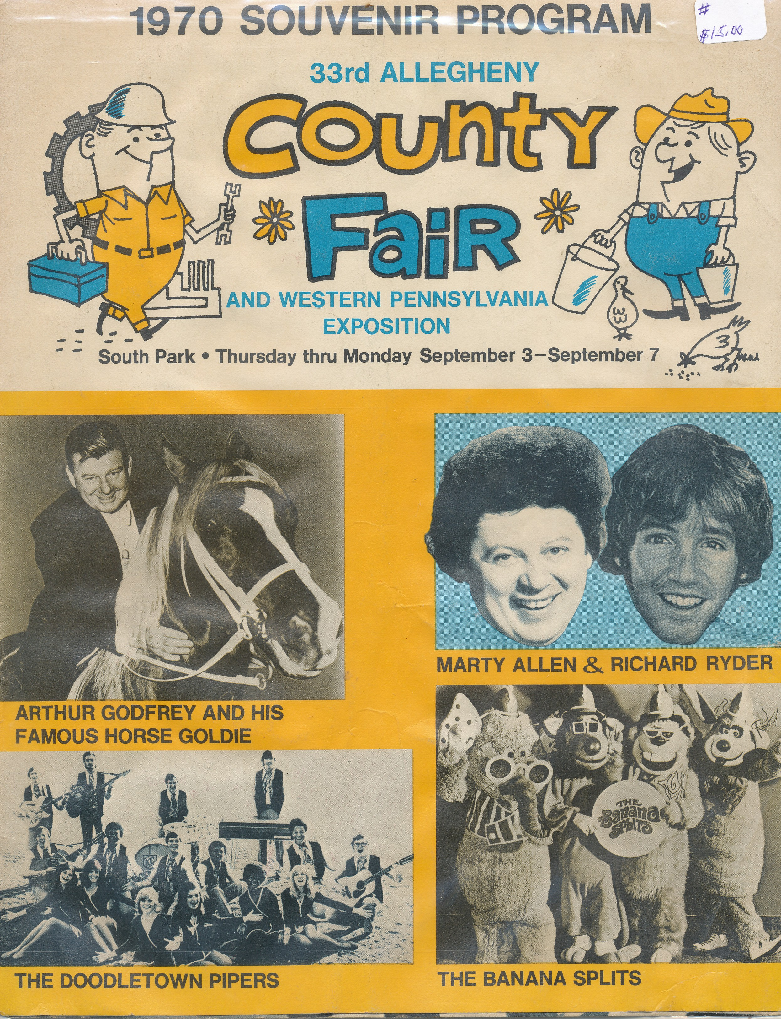 1970 33rd Allegheny County Fair Souvenir Program