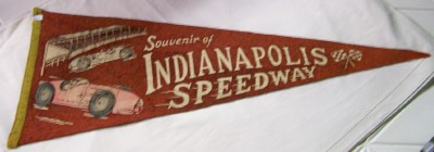 1930s Indy 500 Indianapolis Speedway Souvenir Pennant