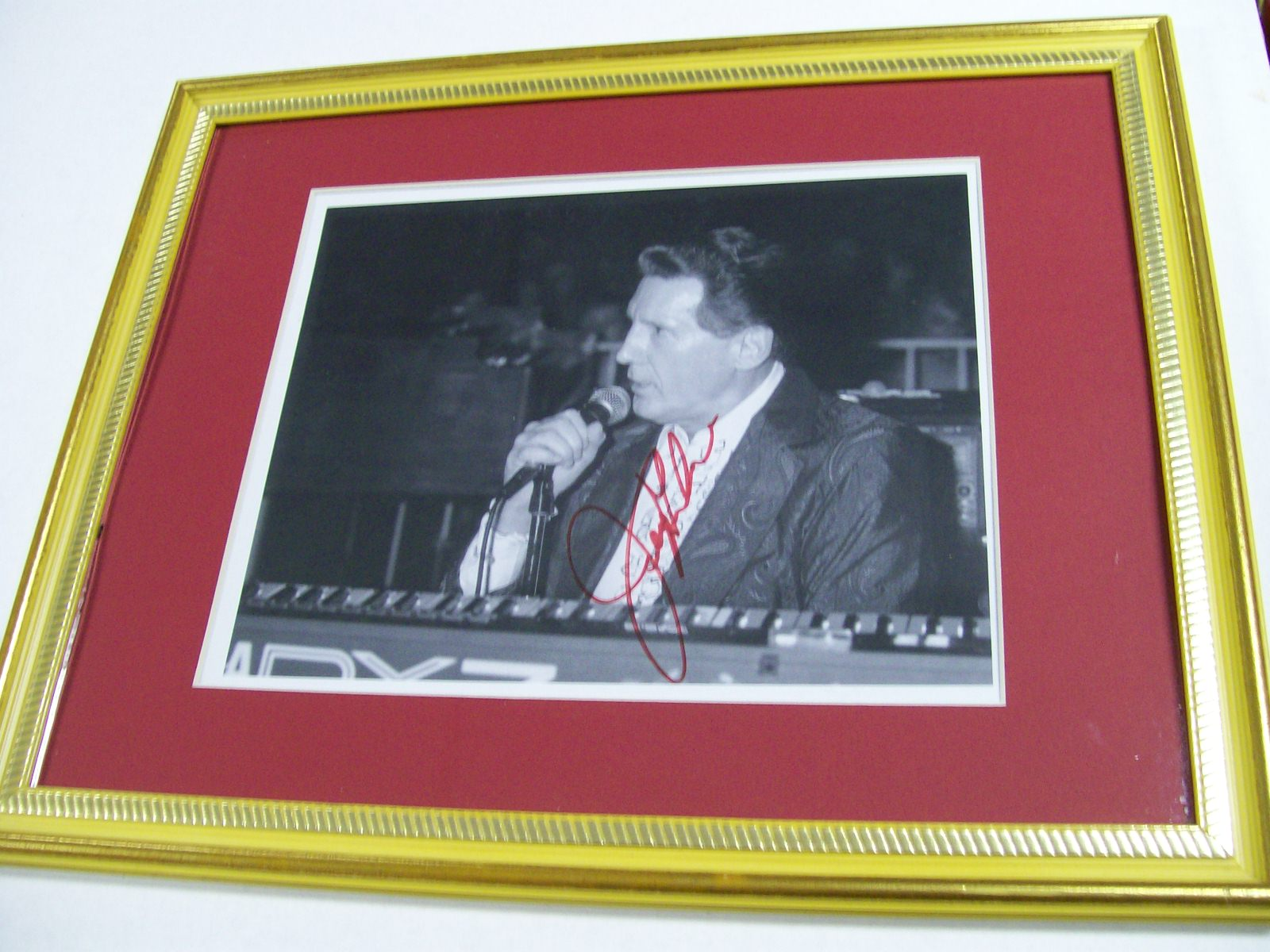 Jerry Lee Lewis signed framed photo/COA from his Wife