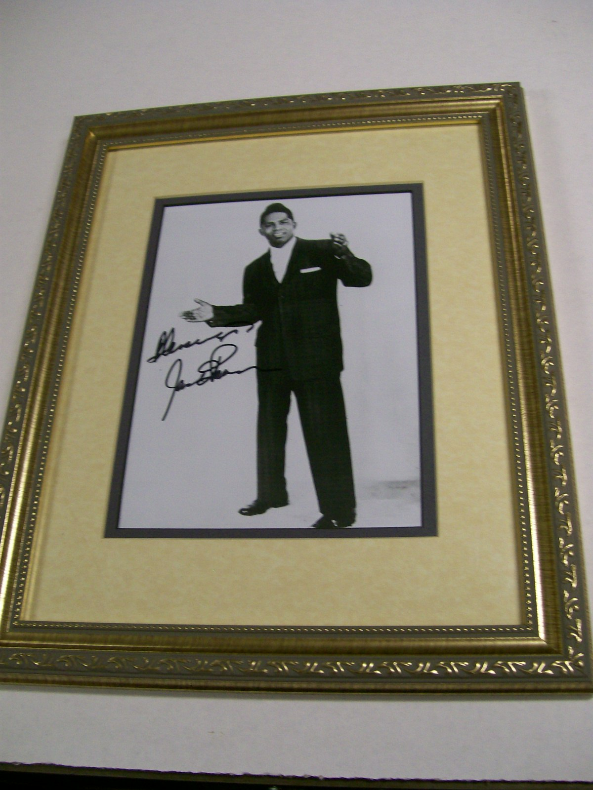 James Brown Framed Autographed Photo with COA