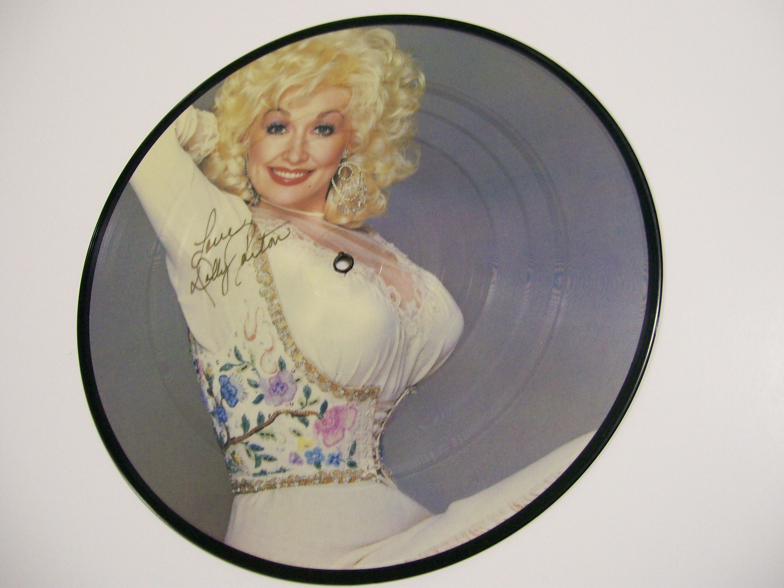 "Dolly Parton Picture Disc 10"" RCA Ltd. 395 1984 Autographed"